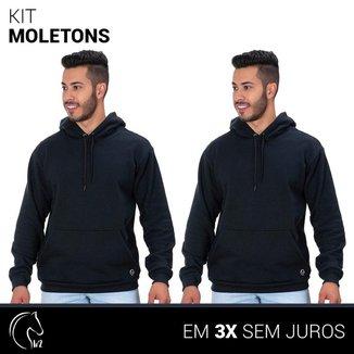 Kit 2 Moletom Masculinos Blusa de Frio Canguru