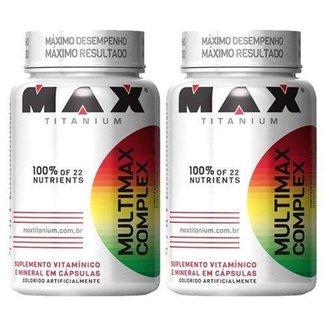 Kit 2  Multimax Complex  90 cápsulas  Max Titanium