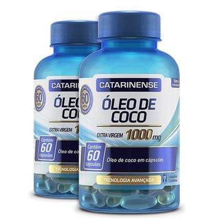 Kit 2 Óleo de Coco Extra Virgem Catarinense 60 cápsulas