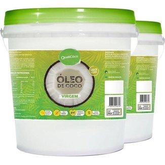 Kit 2 Óleo de Coco Virgem Qualicoco 3 Litros