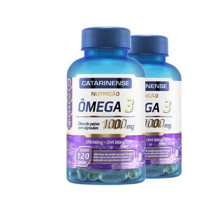 Kit 2 Ômega 3 EPA 540mg DHA 360mg Catarinense 120 cápsulas