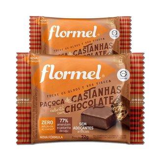 Kit 2 Paçoca de Castanha com Chocolate Zero Açúcar Flormel