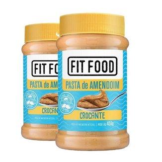 Kit 2 Pasta de Amendoim Integral Fit Food 450g - Crocante