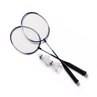 Kit 2 Raquetes Badminton 3 Petecas e Bolsa