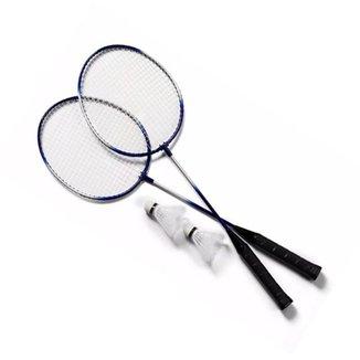 Kit 2 Raquetes Badminton+Petecas e Bolsa
