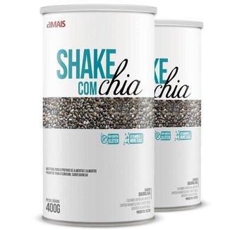 Kit 2 Shake com chia Chá Mais 400g Baunilha