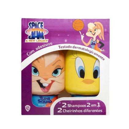 Kit 2 Shampoos Infantil 2 em 1 Lola + Piu Piu + Adesivos