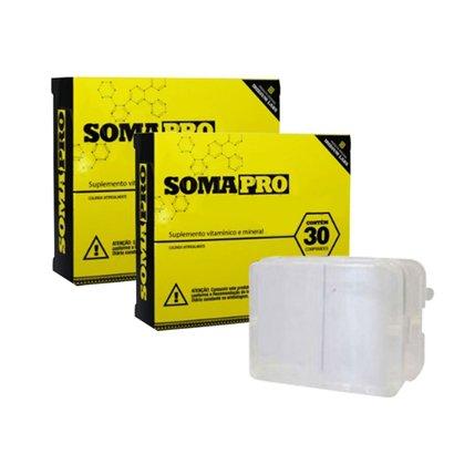 Kit 2 SomaPro 30 cápsulas – Iridium Labs + porta cápsula