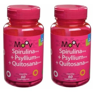 Kit 2 SPIRULINA + PSYLLIUM + QUITOSANA MOOV 60 comprimidos