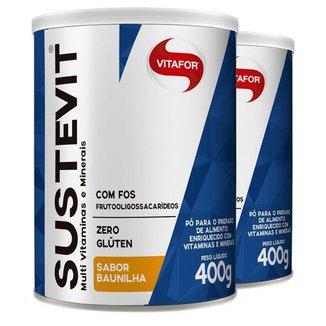 Kit 2 Sustevit Fibras Alimentares Vitafor 400g Baunilha