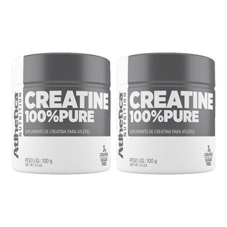 Kit 2 x Creatina 100% Pure   Atlhetica 100 Gramas