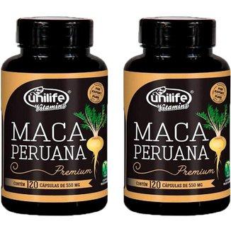 Kit 2 X Maca Peruana Premium 120 Cápsulas Unilife