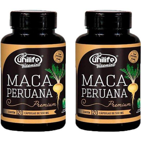 Kit 2 X Maca Peruana Premium 120 Cápsulas Unilife -