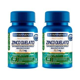 Kit 2 Zinco Quelato Concentrado - 30 Cápsulas - Catarinense