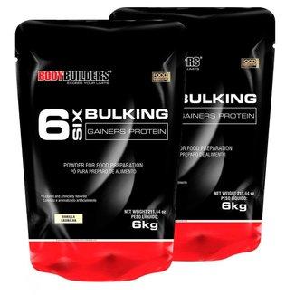 Kit 2x 6 Six Bulking 6kg Baunilha Bodybuilders