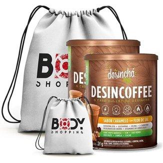 Kit 2X Cafe Desincoffee 220G + Mochila - Desincha (Caramelo Com Flor De Sal)