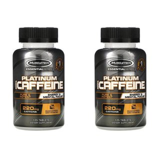 Kit 2x Cafeína, 200mg Muscletech, Platinum 100%, 125Caps