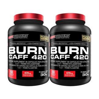 KIT - 2x Cafeína Burn Caff 420 60caps - Bodybuilders