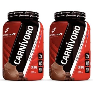 Kit 2x Carnívoro 900g Beef Protein Isolate - Body Action