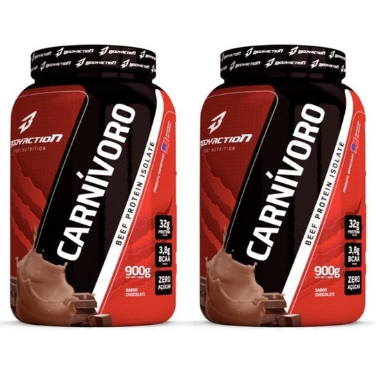 Kit 2x Carnívoro 900g Beef Protein Isolate - Body Action -