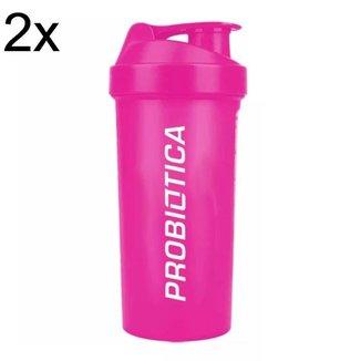 Kit 2X Coqueteleira Rosa -700 ml - Probiótica