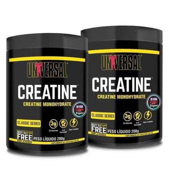 Kit 2x Creatina - 200g - Sem Sabor - Universal Nutrition -