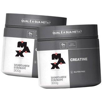 Kit 2x Creatina 300g - Max Titanium