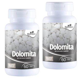 KIT 2X Dolomita ( Cálcio + Magnésio) 60 cápsulas - Nutrivale