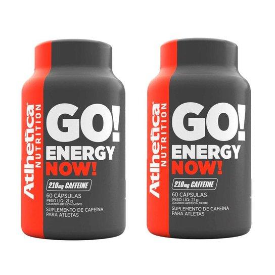 Kit 2x Energy Now Cafeína 60 Cápsulas - Atlhetica -