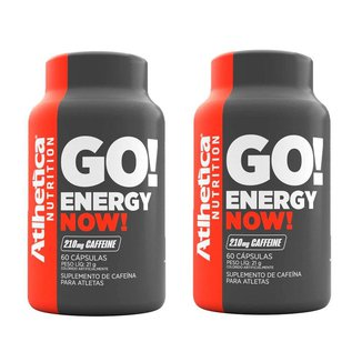 Kit 2x Energy Now Cafeína 60 Cápsulas - Atlhetica