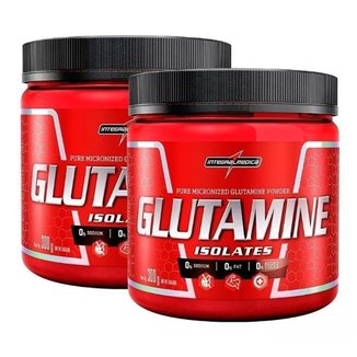 Kit 2x Glutamine Isolates Natural 300g Integralmedica