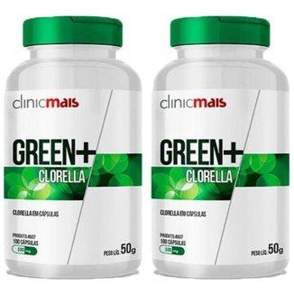 Kit 2x Green+ Clorella  100 Cápsulas  Clinic Mais