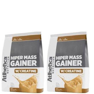 Kit 2x Hipercalórico Hiper Mass Gainer C/ Creatina 3Kg - Atlhética Nutrition
