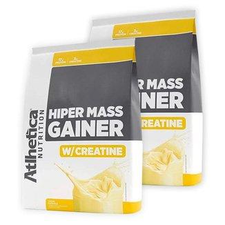 Kit 2x Hipercalórico Massa Hiper Mass Gainer C/ Creatina 3Kg - Atlhetica Nutrition