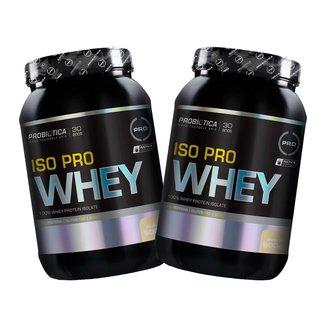 Kit 2x Iso Pro Whey 900g - Baunilha - Probiótica