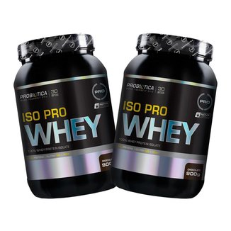 Kit 2x Iso Pro Whey 900g - Chocolate - Probiótica