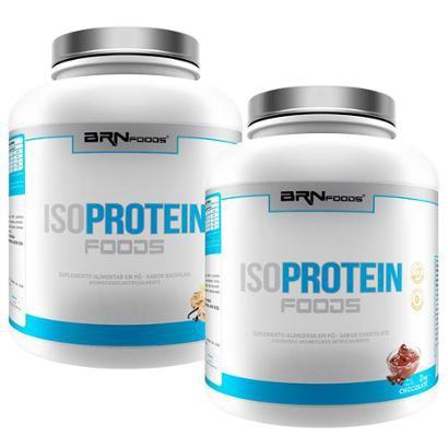 Kit 2x Iso Proteín Foods - 2kg (chocolate e baunilha) - BRNFOODS - Unissex