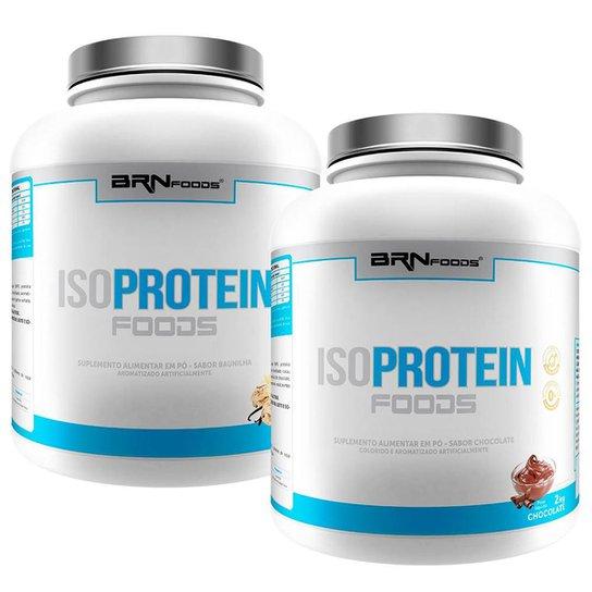 Kit 2x Iso Proteín Foods - 2kg (chocolate e baunilha) - BRNFOODS -