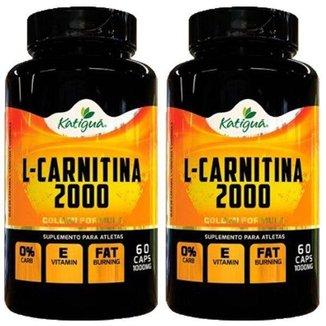 Kit 2X L-Carnitina 2000 - 60 Cápsulas Katigua Sport