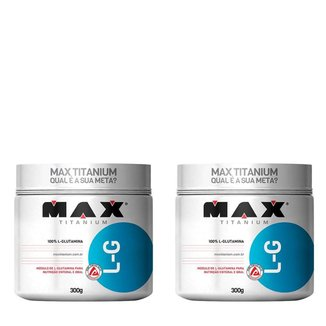 Kit 2x L-G Glutamina 300g Max Titanium