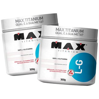 Kit 2x L-Glutamina 300g - Max Titanium