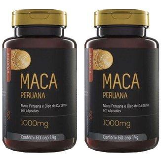 Kit 2x Maca Peruana e Óleo de Cártamo  60 Cápsulas  Upnutri Prime