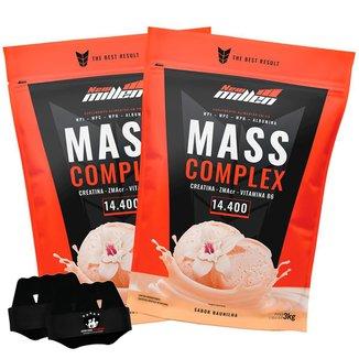 Kit 2x Mass Complex - Baunilha 3kg + Luva - New Millen