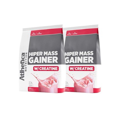 Kit 2x Massa Hiper Mass Gainer 3kg - Atlhetica Nutrition