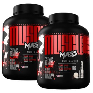 Kit 2x Muscle Mass Hipercalórico 3000g  Espartanos
