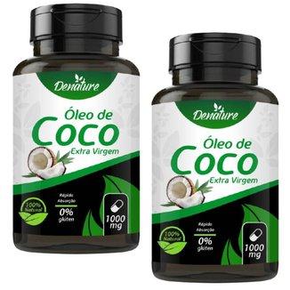 KIT 2X Óleo de Coco Extra Virgem 1000mg 100 Cápsulas - Denature