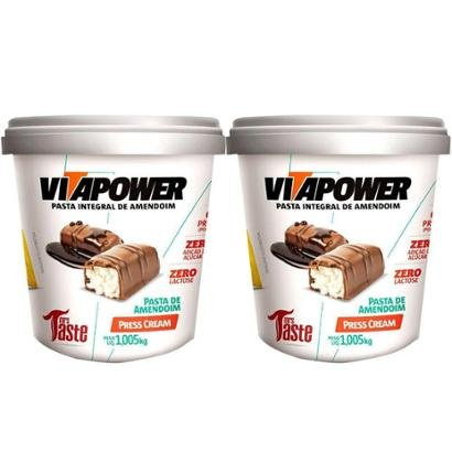 Kit 2x Pasta de Amendoim 1Kg Press Cream Vitapower - Unissex