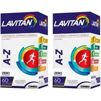 Kit 2x Polivitamínico  60 Comprimidos Lavitan A-Z Cimed
