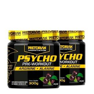 kit 2x Pré Treino Psycho Pre Workout 300g - Pretorian