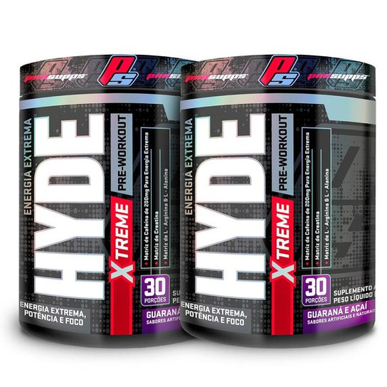 Kit 2x Pré Treino Vasodilatador Mr Hyde Pre Workout Extreme Edition 30 doses - ProSupps -